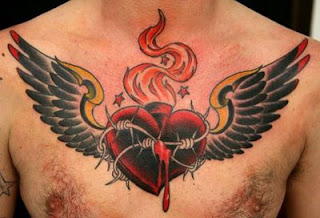 Heart Tattoos With Image Male Tattoo With Heart Tattoo Designs On The Body Picture 5