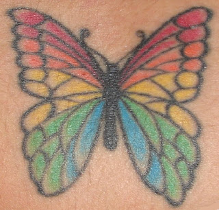 Full Color Lower Back Female Tattoo For Girl With Butterfly Tattoo Designs Specially Full Colored Lower Back Butterfly Tattoos Pictures Art Body Image