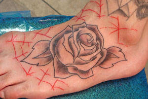 Amazing Flower Tattoos With Image Flower Tattoo Designs For Female Tattoo With Flower Foot Tattoo Picture 9