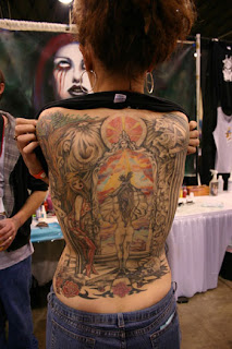 Feminine Tattoos With Image Feminine Full Backpiece Tattoo Designs Picture 1
