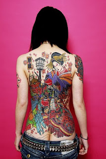 Japanese Geisha Tattoo Designs With Image Sexy Girls Showing Japanese Geisha Tattoo On The Backpiece Picture 7