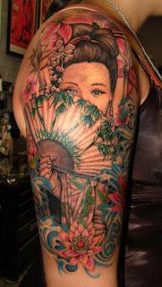 Women Shoulder Geisha Tattoos Ideas Picture 10