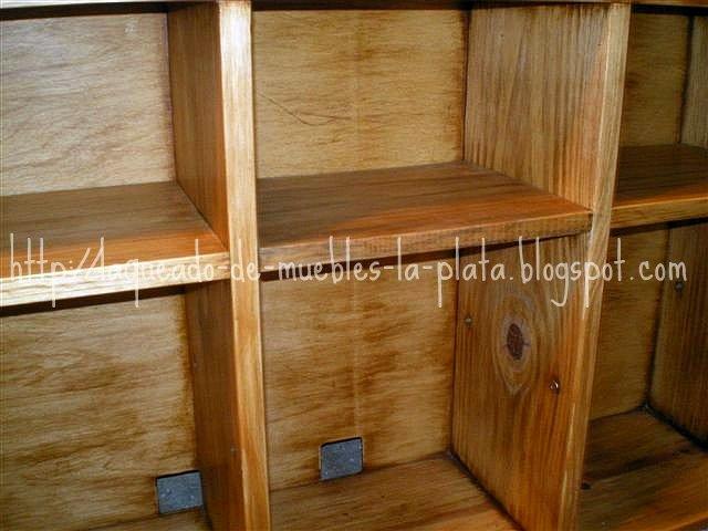 Te ido color roble claro y lavado mueble tv muebles de - Lavado de muebles de madera ...