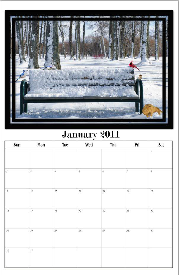 photography blography 2011 monthly calendar template for photoshop