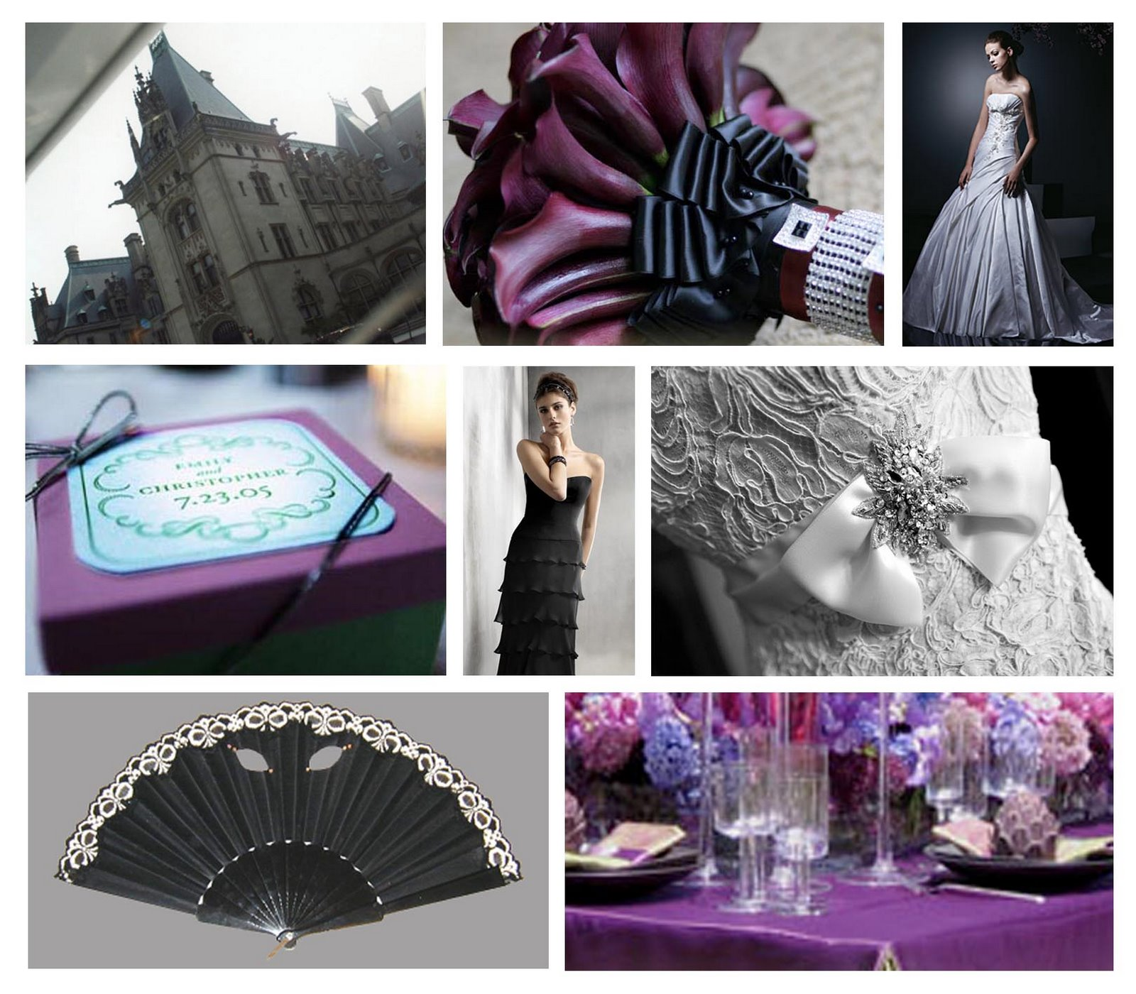 Black and Plum inspiration board