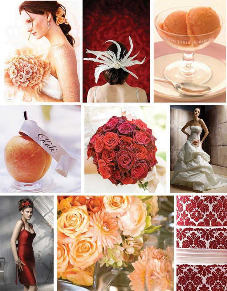 Peach & Red Inspiration Board