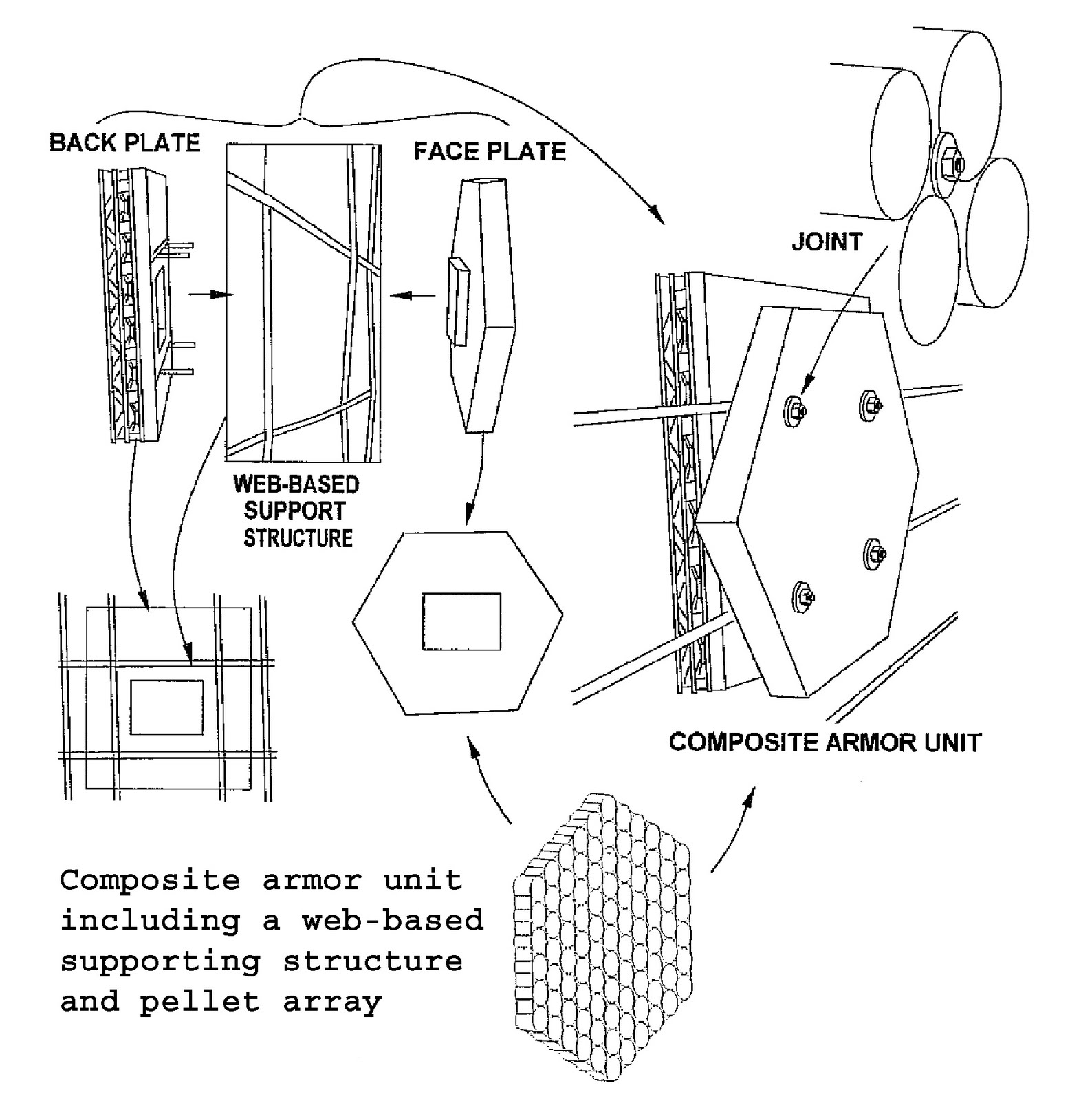 nano clay used to form lightweight composite ballistic armor the fabric net is designed to hold the armor tiles ceramic layer and back plate in place and form an integrated armor kit that can fill into various