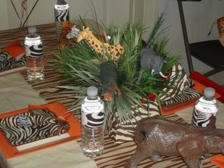 Maggie 39 s dinner dates jungle safari theme for African party decoration