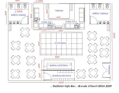 Dassalet cafe bar planos de distribucion for Planos de bares pequenos