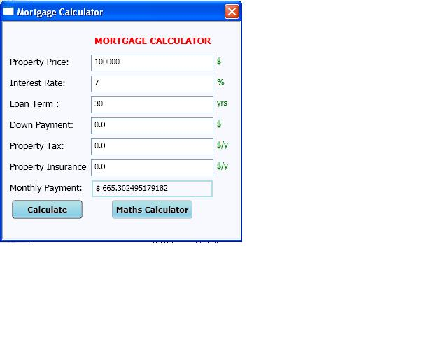 how to stuffs mortgage calculator c