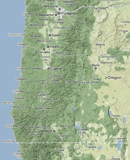 Cliff Mass Weather And Climate Blog Tale Of Two Half Months And - Map of western oregon