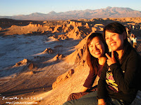 Jess and Mei in Moon Valley in Atacama desert of Chile