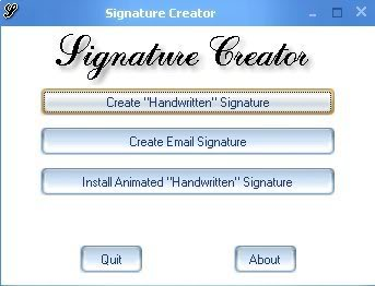 FREE SOFTWARES: Signature Creator