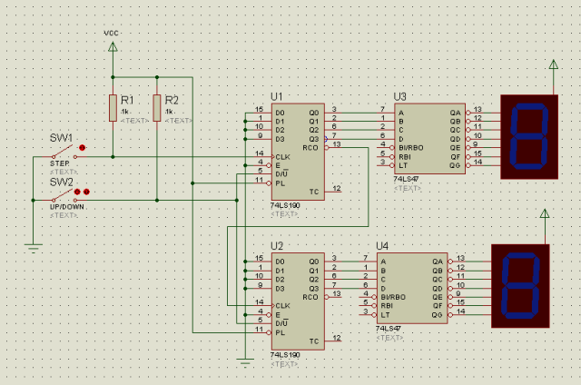Up And Down Counter Circuit Diagram | Circuit Desolator Up Down Counter Circuit