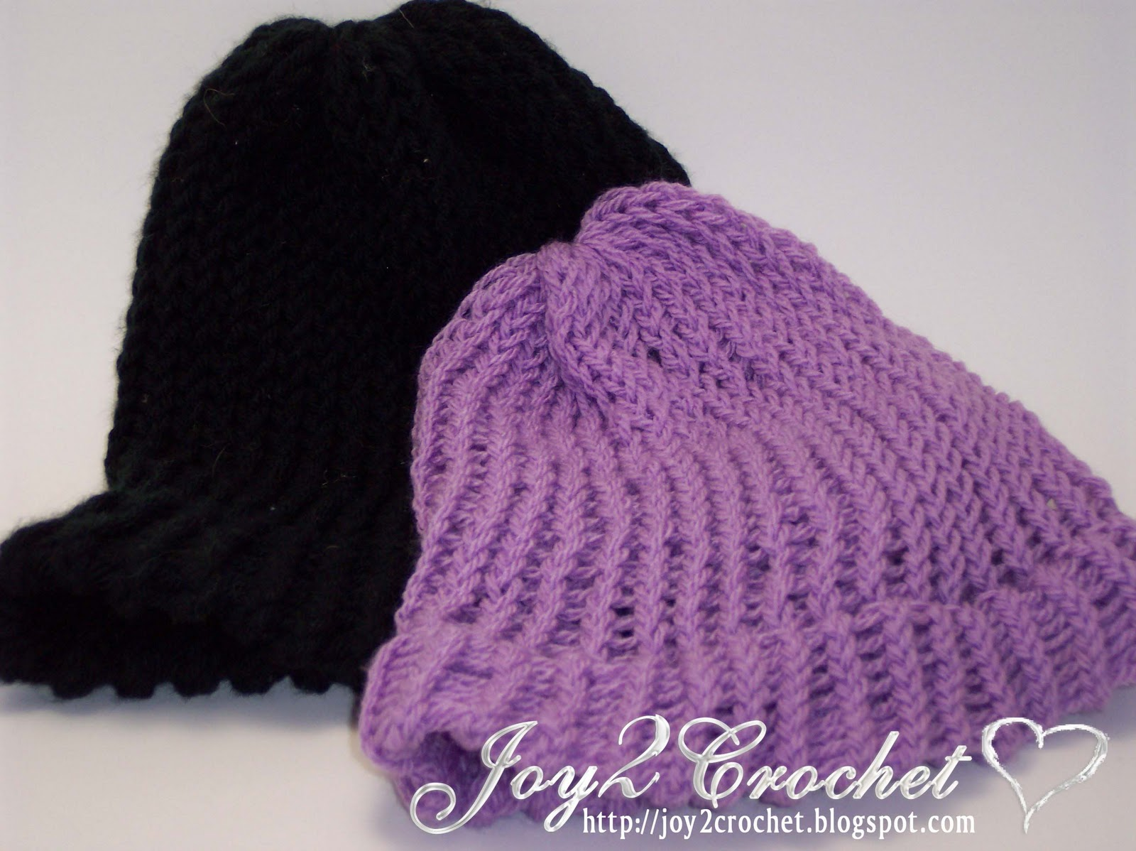 Joy 2 Crochet: Basic Knitting Loom Hats