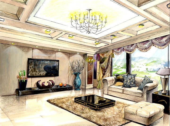 Interior Design and Rendering, Kelly Suna Bong