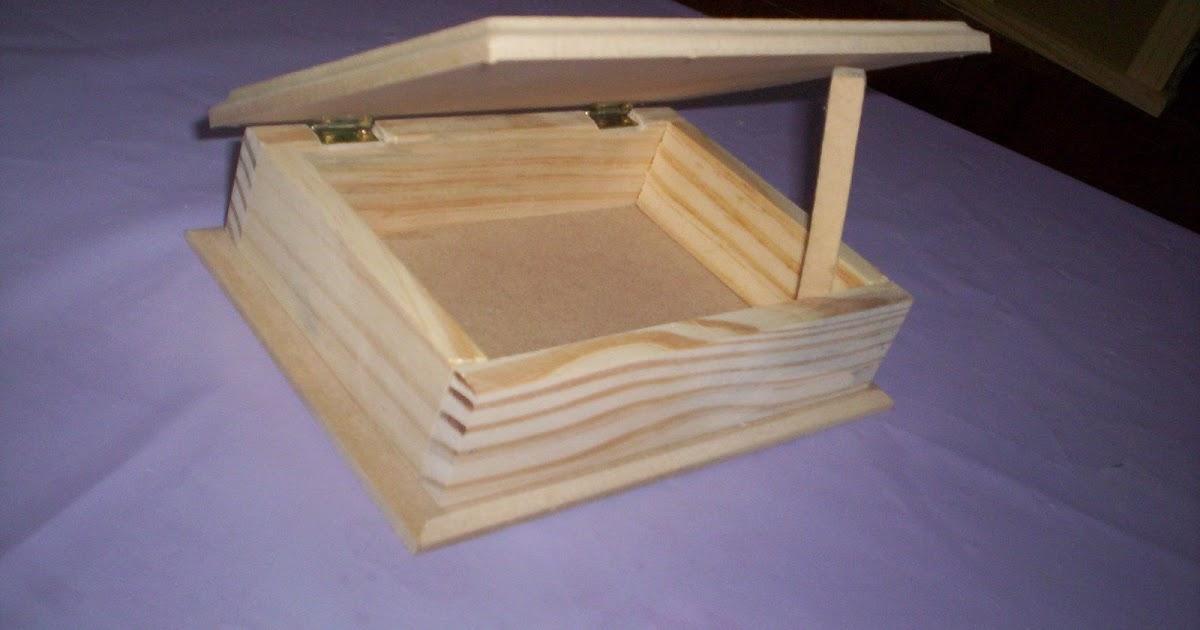 Artesanias madecris caja naipe de madera tapa mdf con for Caja madera con tapa