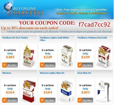 Premium brand of cigarettes Marlboro