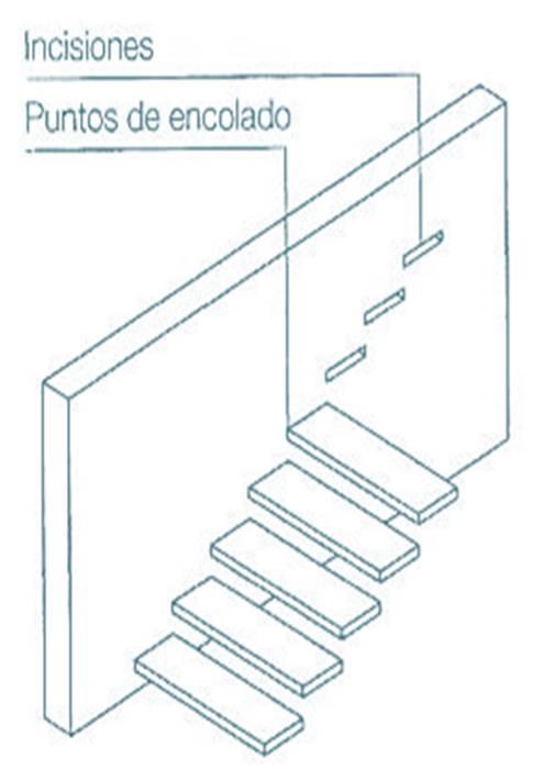 Construcci n acabados escaleras for Detalle escalera volada