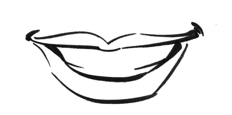 Line Art Lips : Studio tielman