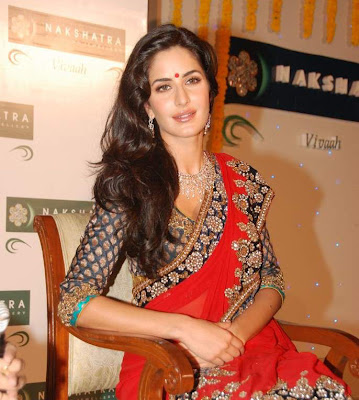 Katrina kaif look gorgeous in saree at Nakshatra  Vivaah collection  launch