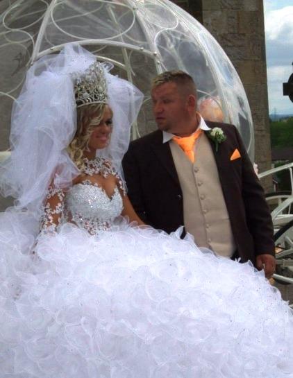 vestido de novia de la mujer de farruquito - vestido de novia