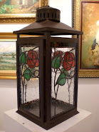 Arts & Crafts Roses Lantern