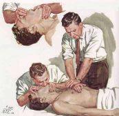 Reanimación con un auxiliador.