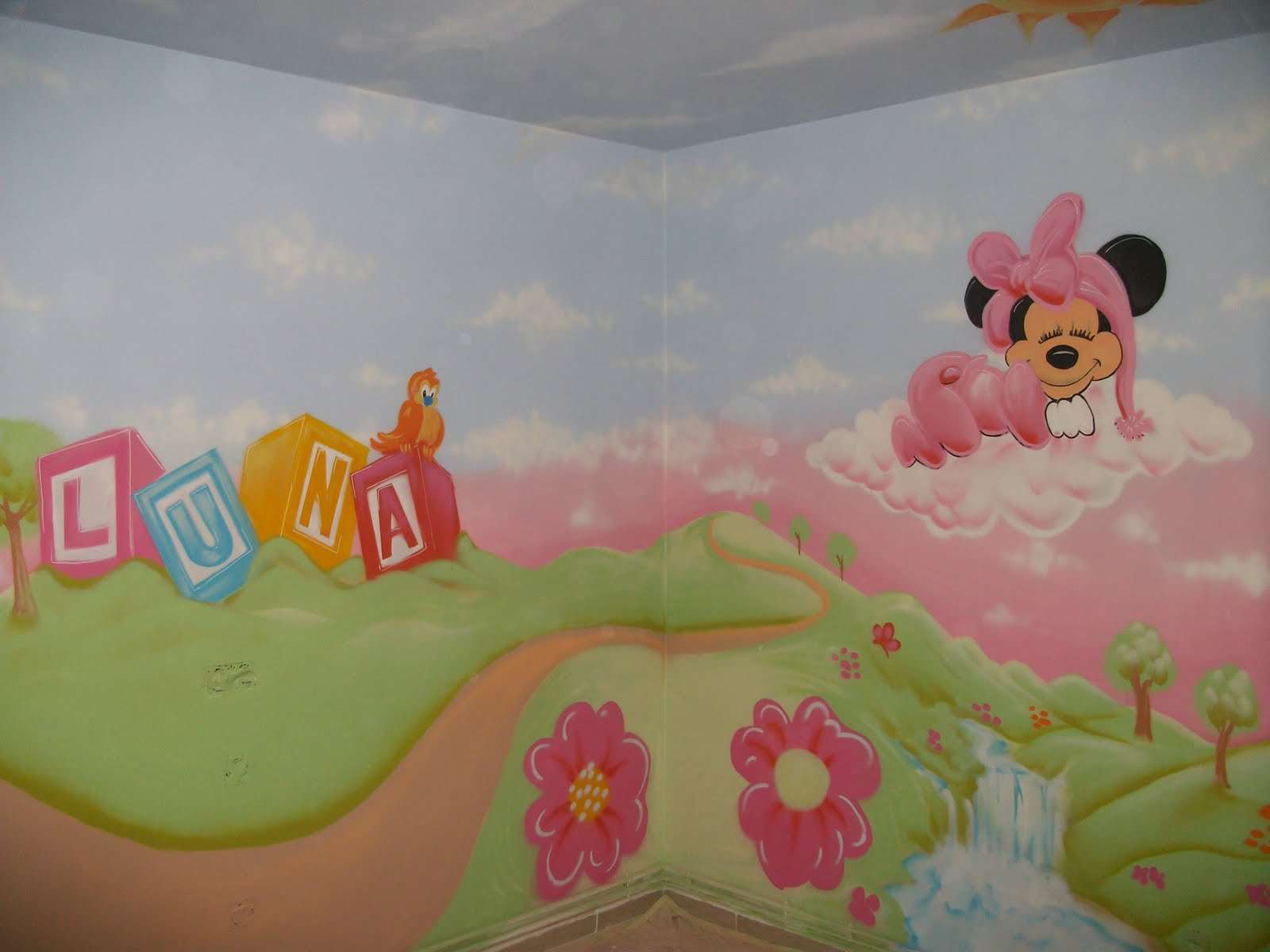 Graffiti Bear Tck Decoracion Graffiti En Habitacion Bear Tck