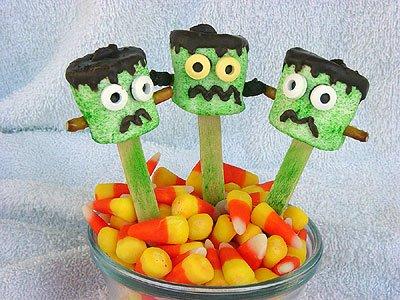 Marshmallow Frankensteins.