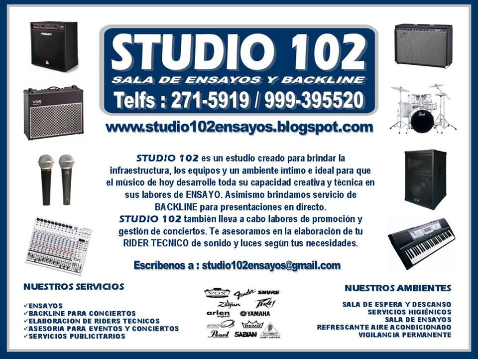 STUDIO 102 - Reservas a los teléfonos : 271-5919  /  999395520