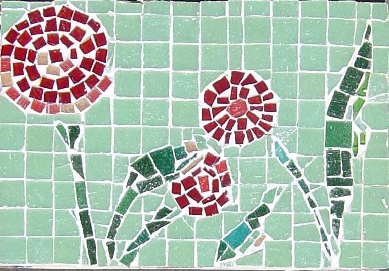 Mosaicos venecianos mosaicos decorativos florales for Mosaico madera pared