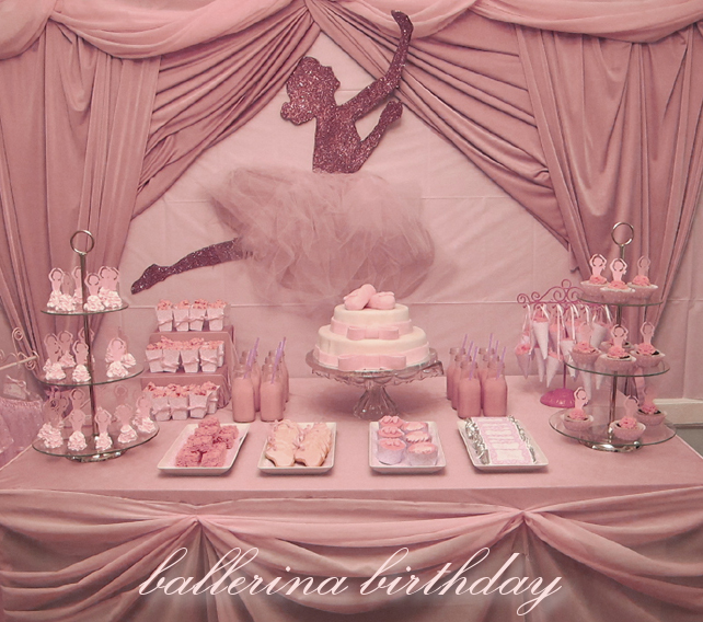 Pretty party presentation ballerina party for Ballerina party decoration