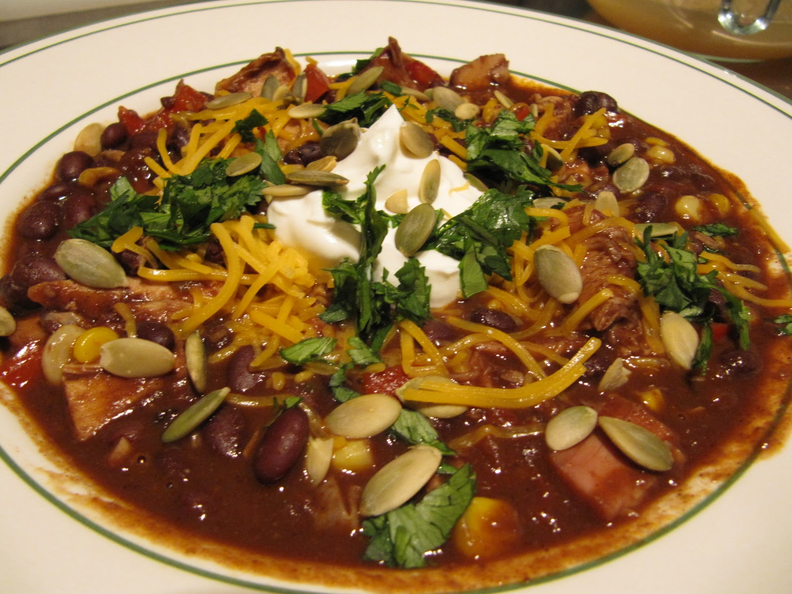 Mama Ozzy's Table: Chicken Mole Chili with Black Beans