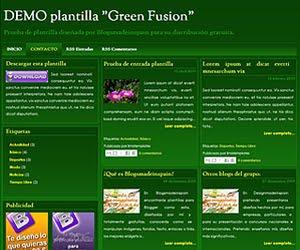 Descargar plantilla Green Fusion