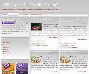 Descargar plantilla White Fusion