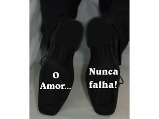 adesivo sapato o amor nunca falha 01 loja(1) Novidades para Casamentos Sapatos com mensagens na sola