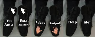 adesivo sapato noivo 2 site Novidades para Casamentos Sapatos com mensagens na sola