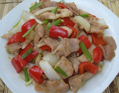 My Asian Kitchen: Stir-fry Pork with Sweet Red Pepper in Fish Sauce