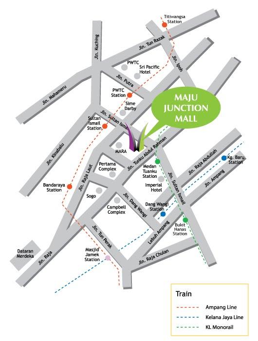Peta ke Restoran & Hotel Lotus, Jalan TAR, KL ( Berhadapan dengan Maju Junction Mall)