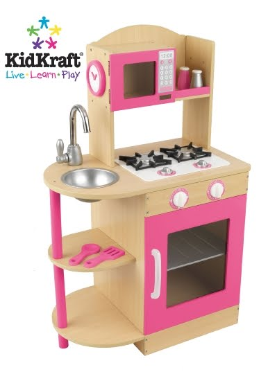 Children 39 s wooden toys toy play kitchen furniture for Kitchen set wooden