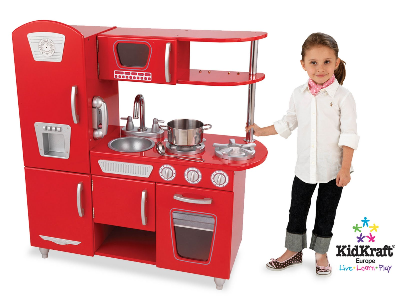 Children's Wooden Toys Toy Play Kitchen Furniture   -> Kuchnia Dla Dzieci Z Ekspresem
