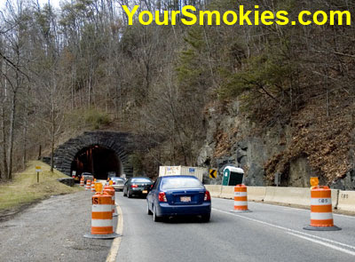 Construction on the Spur Between Pigeon Forge and Gatlinburg TN