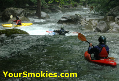 Kayaking in the Great Smoky Mountains national park