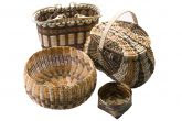 baskets by Cherokee for 6th Annual fall Qualla Open Air Indian Art Market