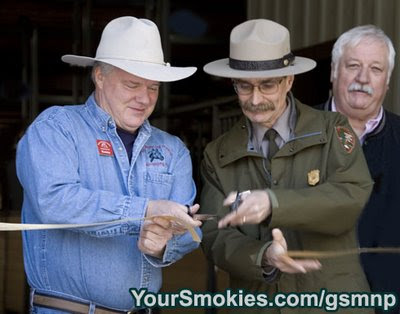 Great Smoky Mountains national parks Sugarlands Riding Stables dedication on April 9th