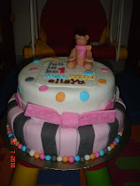 2-tier Fondant Cake with a cute teddy