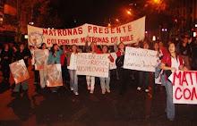 COLEGIO DE MATRONAS DE CHILE EN MARCHA CONTRA FALLO TC