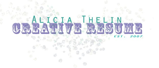 Alicia Thelin's Creative Resume