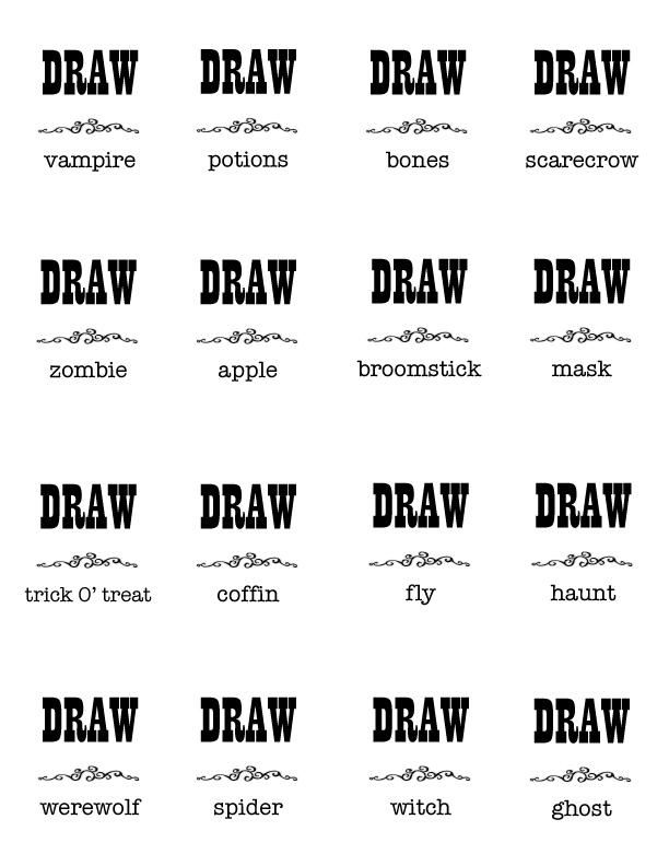 HalloweenPictionaryCharades-Draw1.jpg 612×792 pixels | Halloween ...